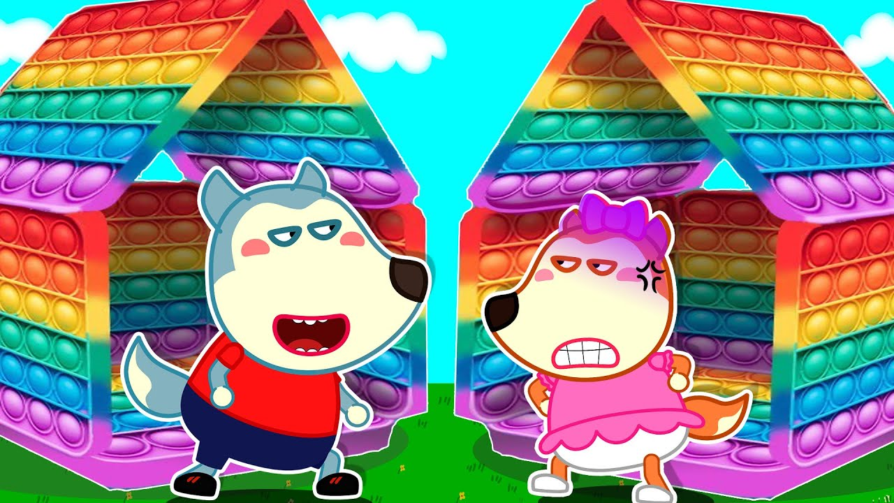 Playhouse Pop It Challenge - Wolfoo and Lucy Get in a Fight and Learn to Share - Wolfoo Kids Stories