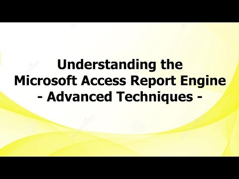 Understanding The Microsoft Access Report Engine - Advanced Techniques