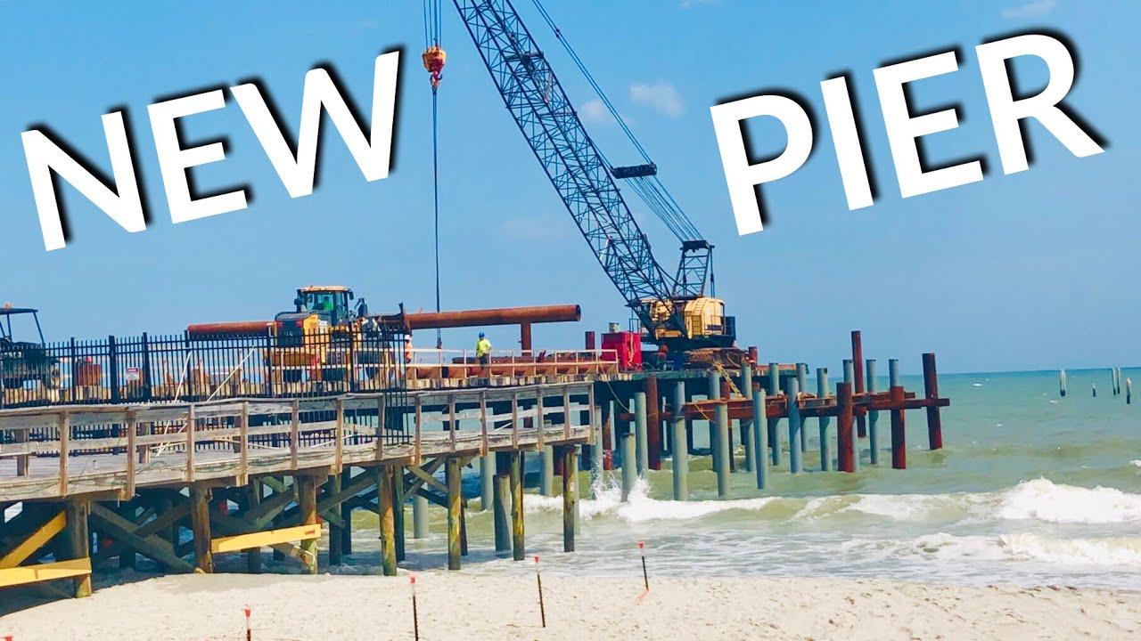 New Springmaid Pier Construction