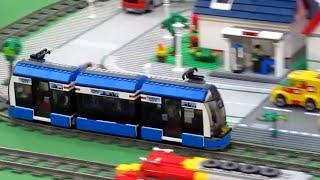 LEGO City Tram 8404 Motorized! Cool Funny :-)