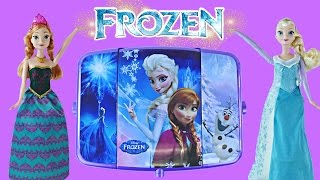 NEW 2015 Disney Frozen Light-Up Vanity Makeup | Elsa Anna Olaf Nails