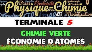 CHIMIE VERTE ET ÉCONOMIE D'ATOMES