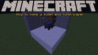 Minecraft Tutorial: How to make a toilet and toilet paper roll [6]
