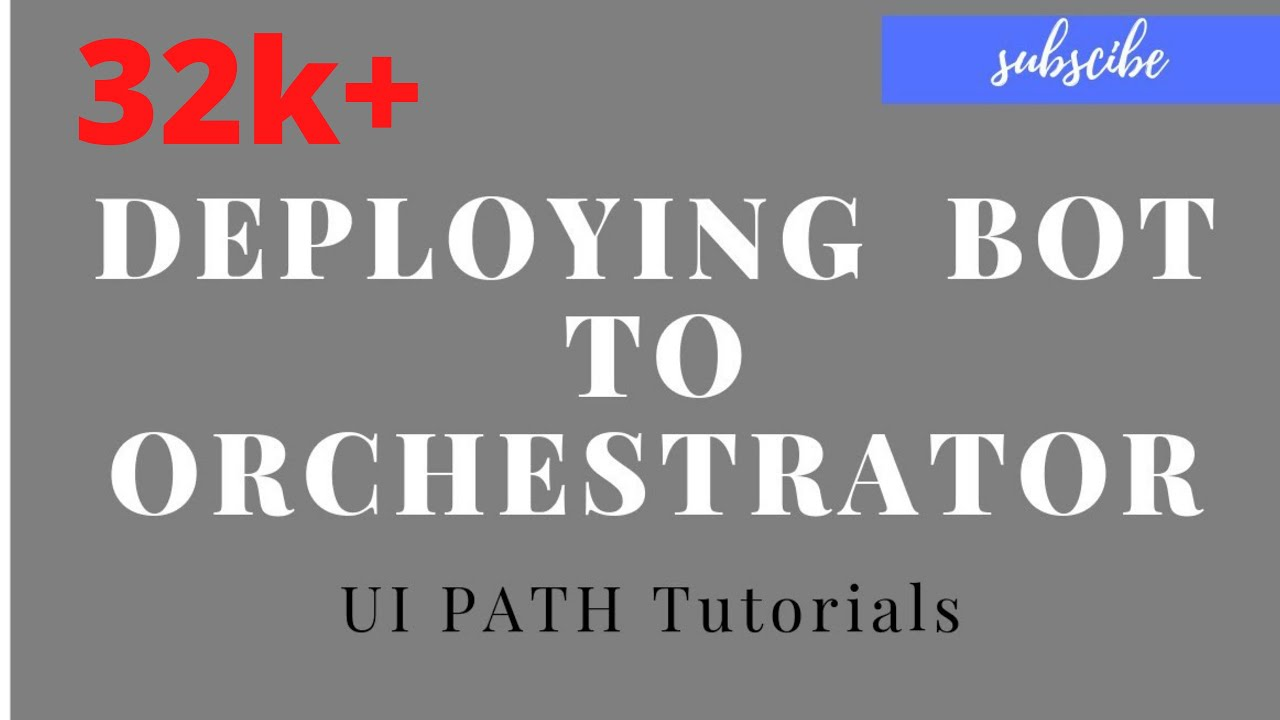 UiPath Tutorials For Beginners - Deploying a bot to Orchestrator ||  Schedule a bot Uipath