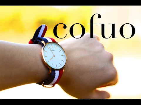 Cofuo Big Face Mens Quartz Analog Sport Waterproof Watch