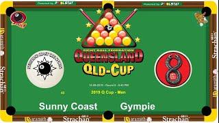 2019 Q-Cup Mens 8 Ball Teams - Sunny Coast v Gympie