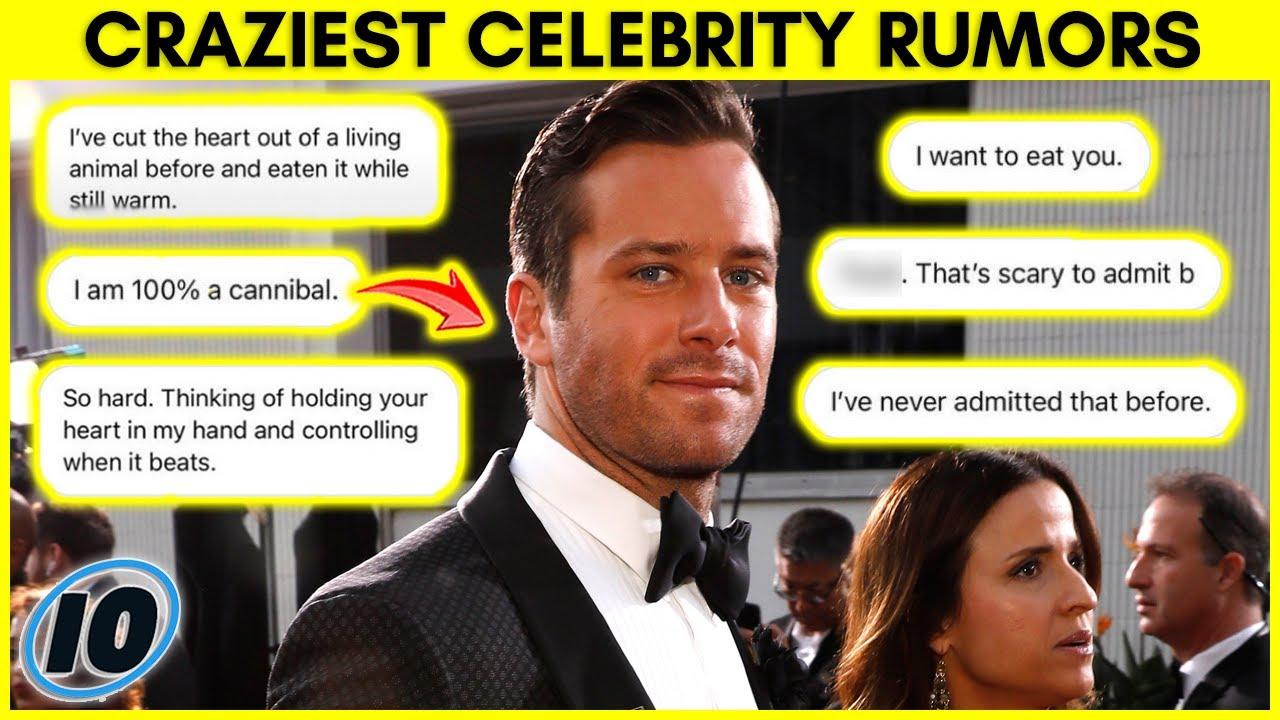 Top 10 Crazy Celebrity Rumors You Won't Believe