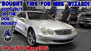 CAR WIZARD buys Mrs. Wizard a '04 SL500 Mercedes. Is it a good buy or is he in the dog house?