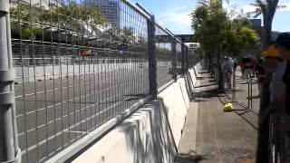Centimetres from the racing line - 2013 Sydney 500