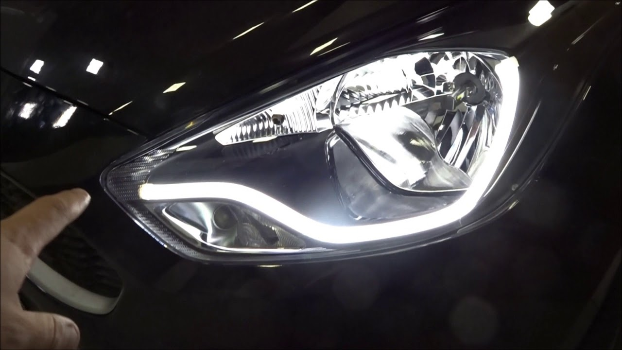 Novo Ford ka 2017 barra de led e interior personalizado - YouTube