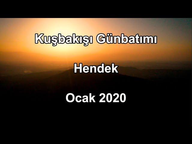 Kuşbakışı Günbatımı - Hendek - Ocak 2020 / Bird's Eye Sunset - Hendek - January 2020