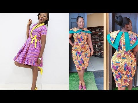 2018 Short African Print Dress Styles : #Ankara And Aso Ebi Styles