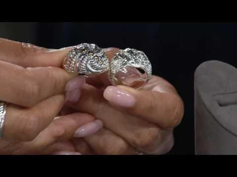 JAI Sterling & Diamonique Banana Textured Ring on QVC