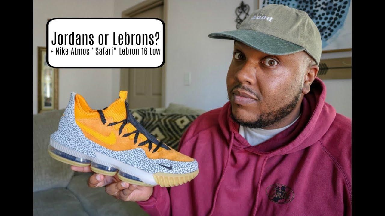 5acbda73174 Nike Atmos Safari Lebron 16 Low + Jordan s Or Lebron s    - YouTube