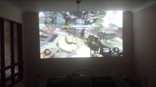 Titanfall Gameplay on my 10ft HD Projector