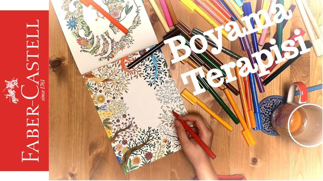 Boyama Terapisi Yetişkin Ve çocuklar Için Boyama Kitabı Youtube