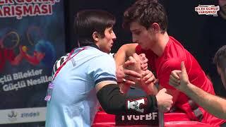 65 Kg Sol Kol Final Müsabakası - 5. Türkiye Genç Erkekler Bilek Güreşi Yarışması