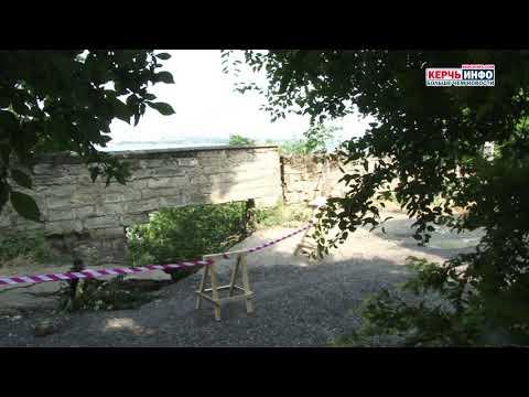 Последствия утреннего ливня: масштабное обрушение грунта на Митридате