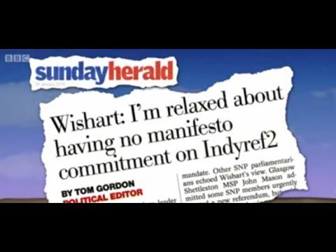 Sunday Herald indyref2 story on BBC Scotland