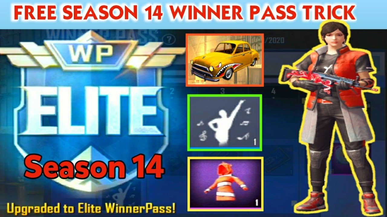 Pubg Mobile Lite   Free Winner Pass Season 14 Trick   Get Free Dacia Skin, Dance Emote, DP Skin