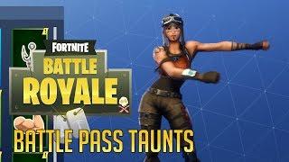 ALL Battle Pass Saison 2 Taunts (Fortnite Battle Royale)