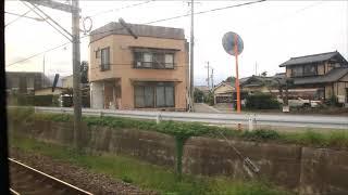 特急諏訪しなの号塩尻駅発車(車窓)