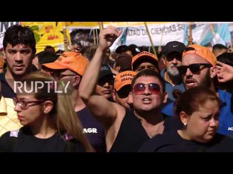 Argentina: Sacked workers march against the Clarin group in Buenos Aires