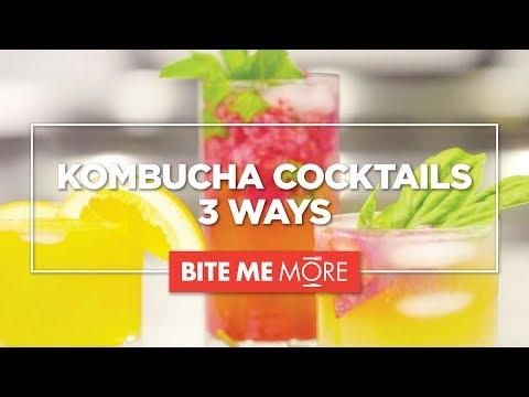 DRINK RECIPE Kombucha Cocktails 3 Ways