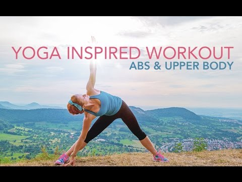 yoga inspired workout for abs  upper body  youtube