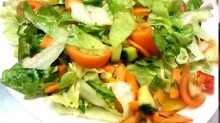 Green Salad Recipe  - Indian Cooking -indian Restaurant Cooking -pabda20