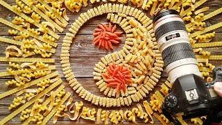 Инь янь из макарон для фуд фото, фотосъемка на Canon 6d