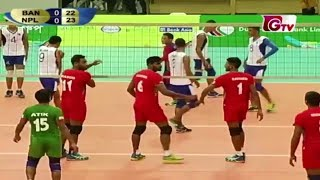 Nepal vs Bangladesh || 1st Match || Bangabandhu International Volleyball Tournament 2018