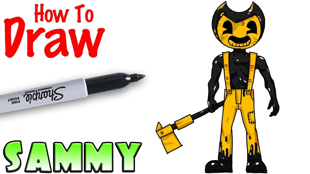 How To Draw Sammy Bendy And The Ink Machine Youtube