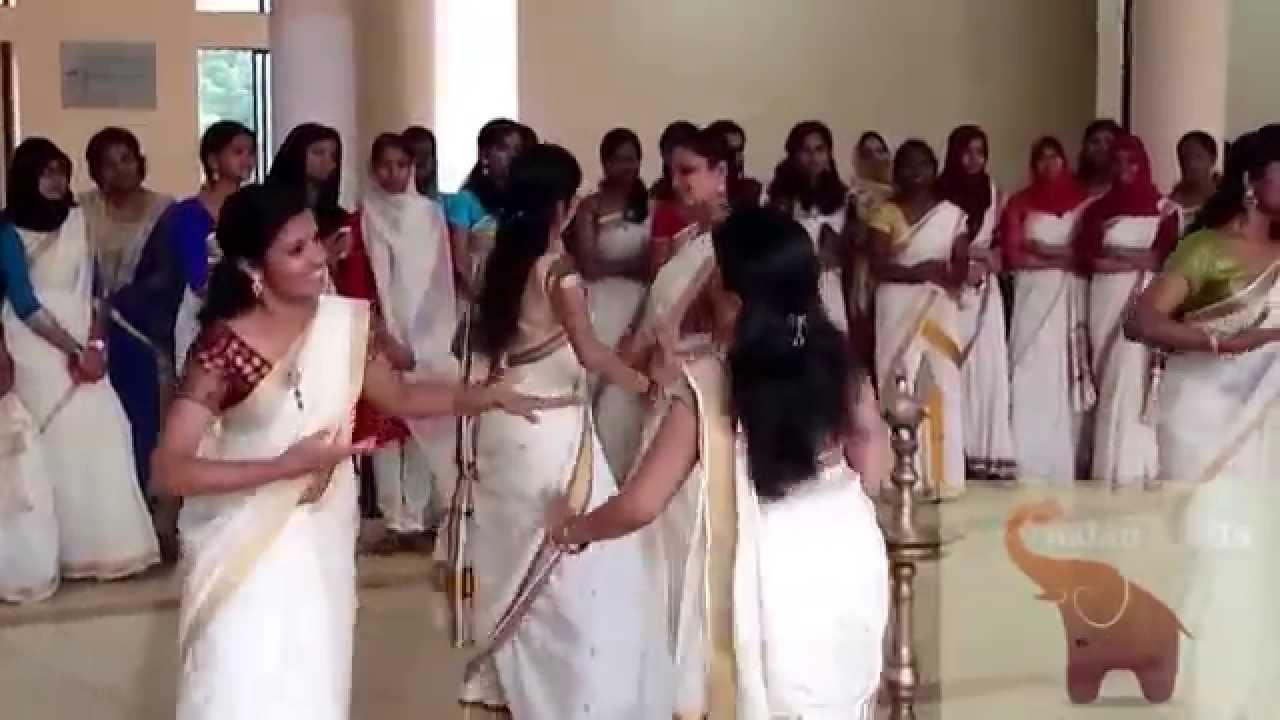 kmct medical college onam fest 2014  thiruvathira