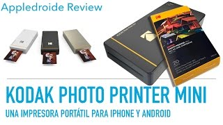 Kodak  Photo Printer Mini una impresora portátil de gran calidad