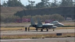 アレスティングフックで着陸訓練 F-15 303飛行隊 小松空港 Landing trai...
