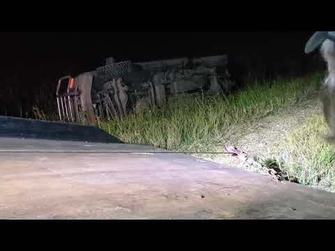 F250 Rollover recovery  in Deep Ditch with Rollback pt1