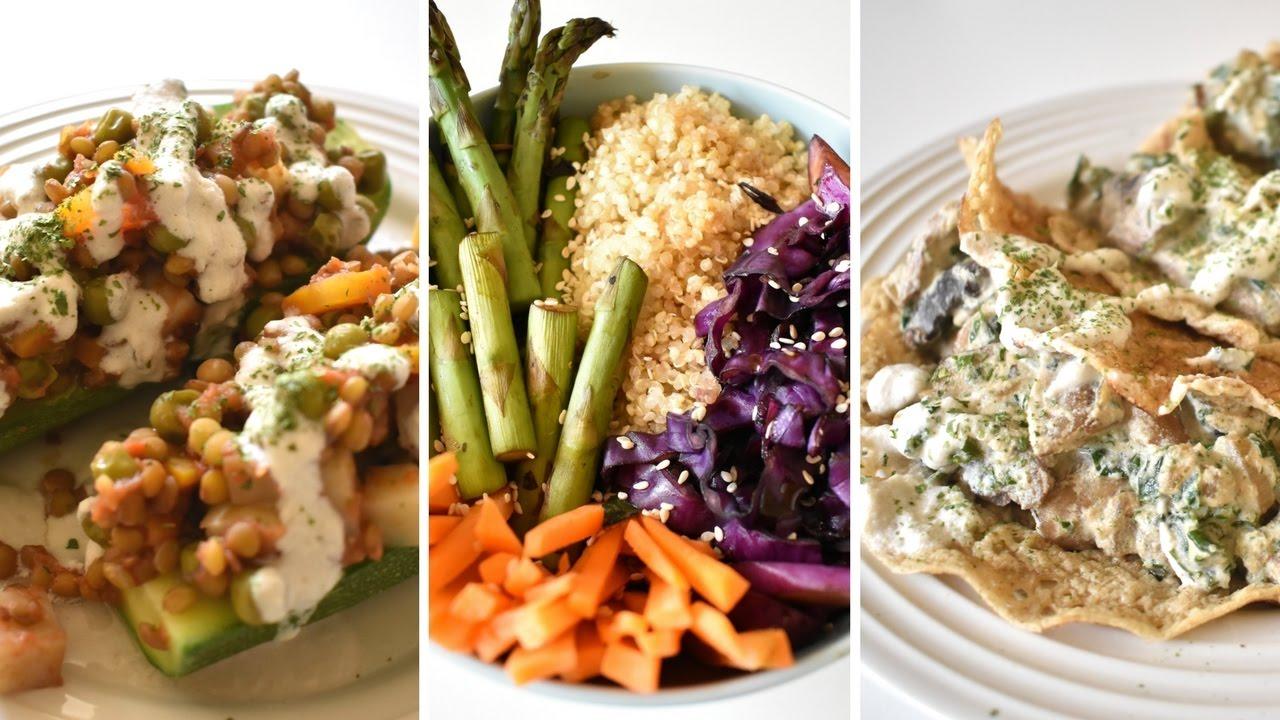 Cenas saludables f ciles vida vegana youtube for Cenas faciles