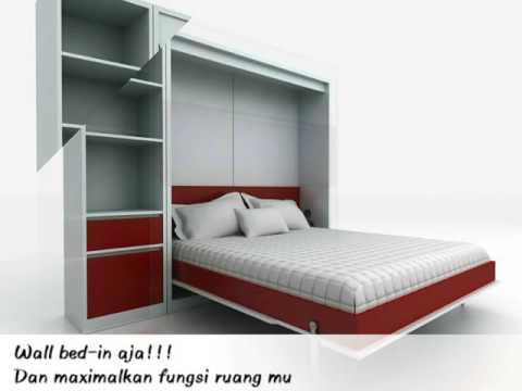 Ranjang Lipat Utk Maximalkan Ruang Apartemen Studio Hp