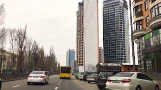driving downtown kiev ukraine 2018