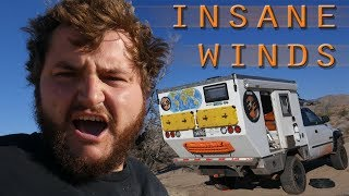 EP:09 FREE CAMPING AT JOSHUA TREE NP COME'S WITH A PRICE - GNARLY WIND!