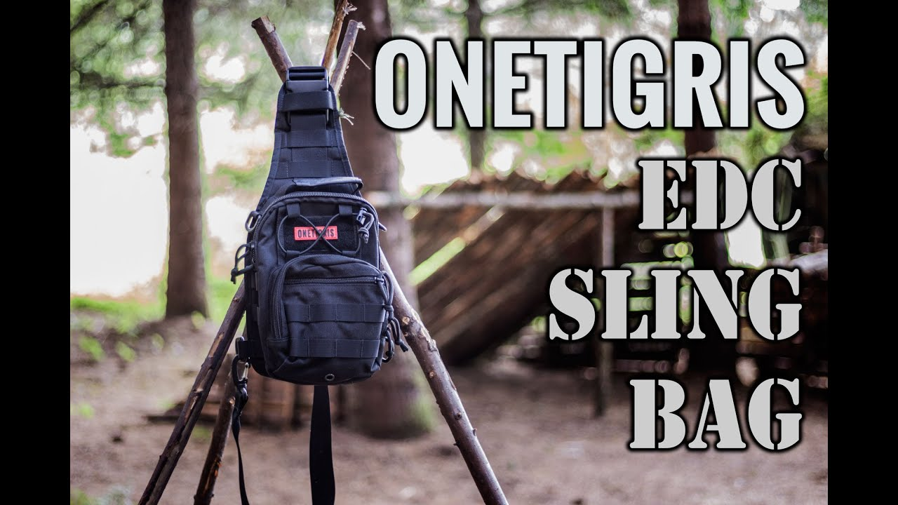 OneTigris 1000D EDC Tactical MOLLE Sling Bag - YouTube