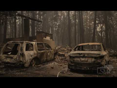 7-25-2021 Indian Falls, Ca Dixie Fire aftermath- Many homes, cars destroyed