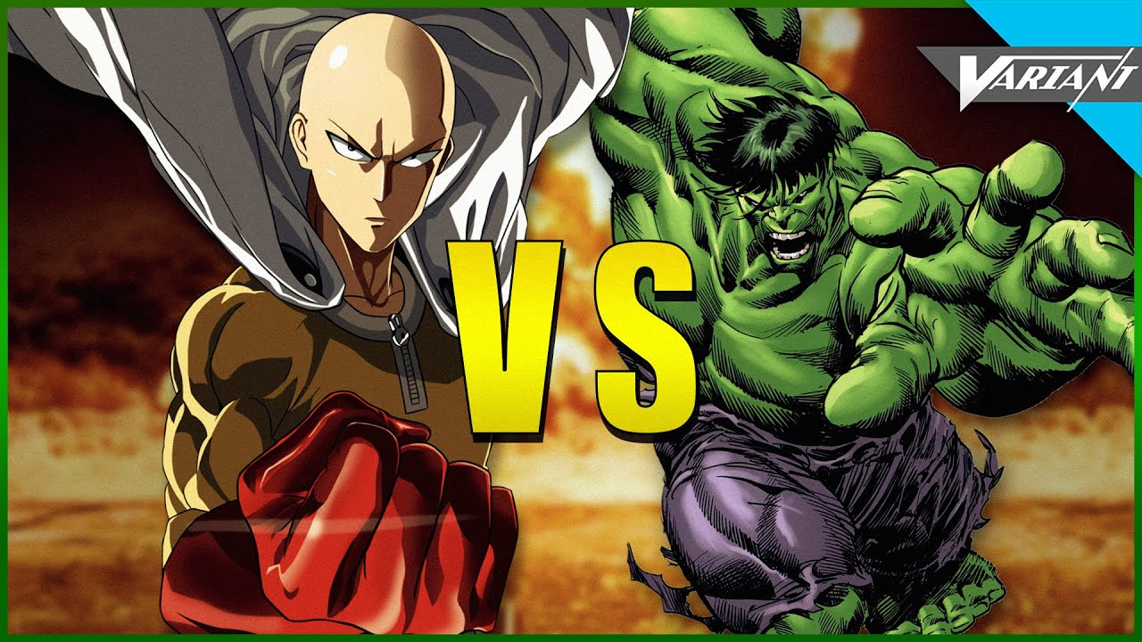 6 Anime Characters Who Can Challenge Saitama : One punch man vs hulk youtube