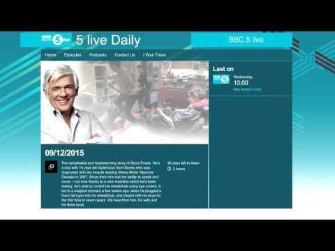 Eyedrivomatic on BBC 5 live 09-12-2015