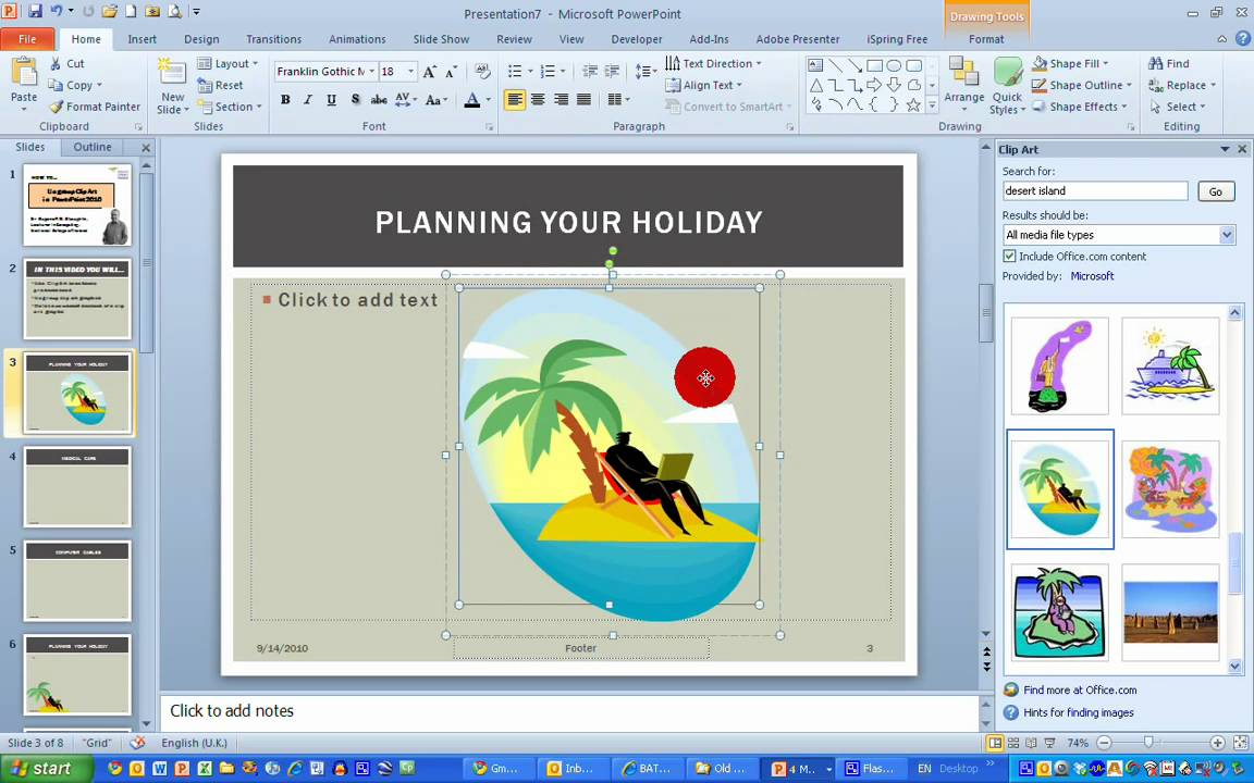 How To Ungroup Clip Art In Powerpoint 2010 Youtube