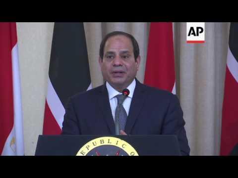 Kenya leader hosts Egyptian counterpart
