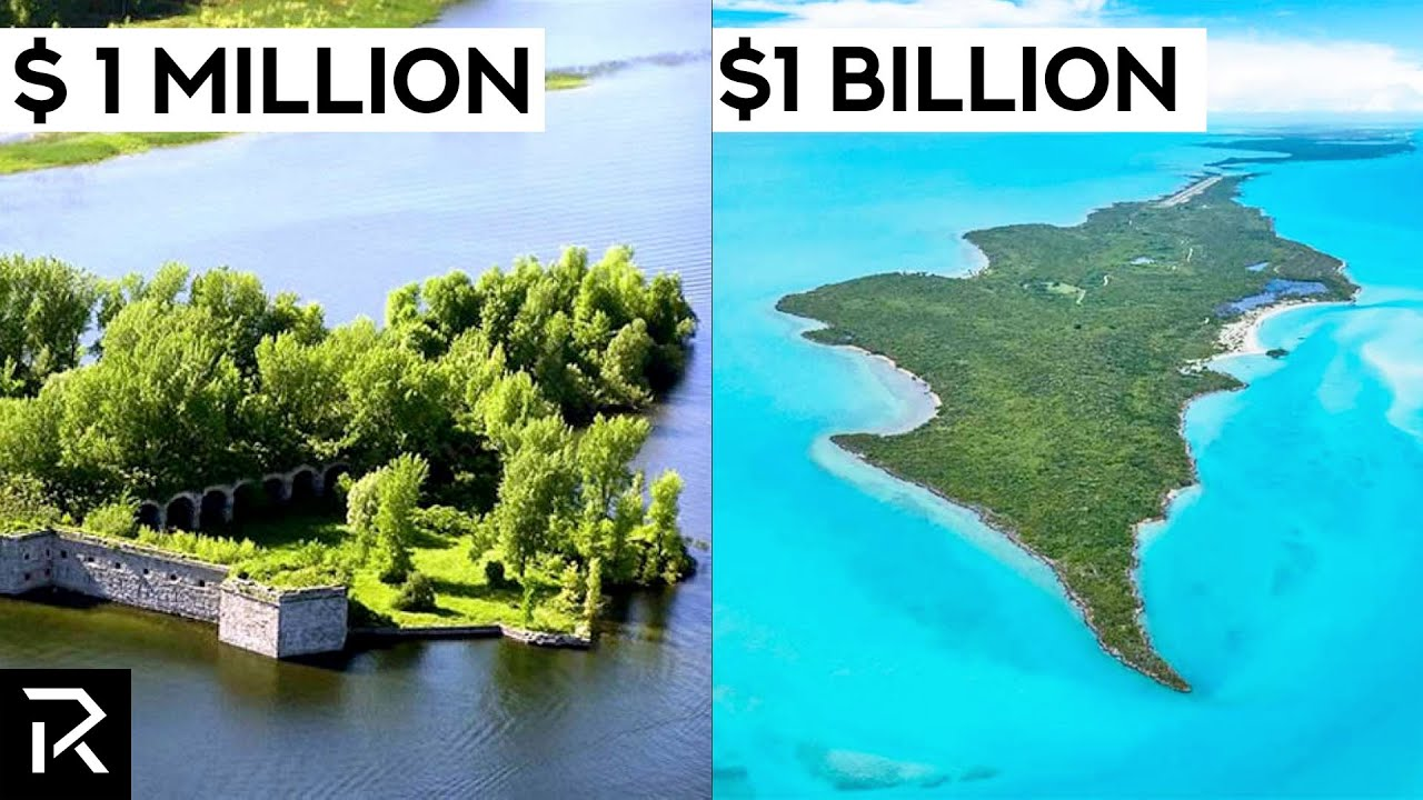 $1 Million VS $1 Billion Private Islands