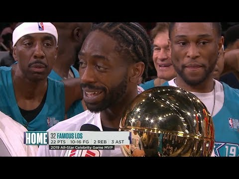 2019 NBA Celebrity Game - Famous Los Wins MVP Award | 2019 NBA All-Star Weekend