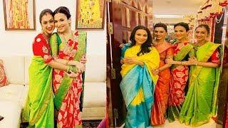 soundarya Rajinikanth Navratri kolu celebration with aishwarya and pritha @her house
